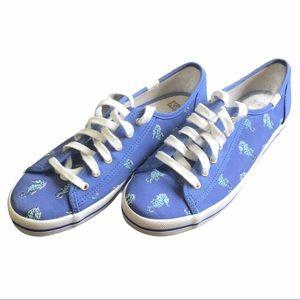 Kate Spade Keds blue seahorse sneakers 8